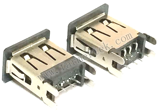 USB 4P A TYPE FEMALE VERTICAL  H=14.45mm